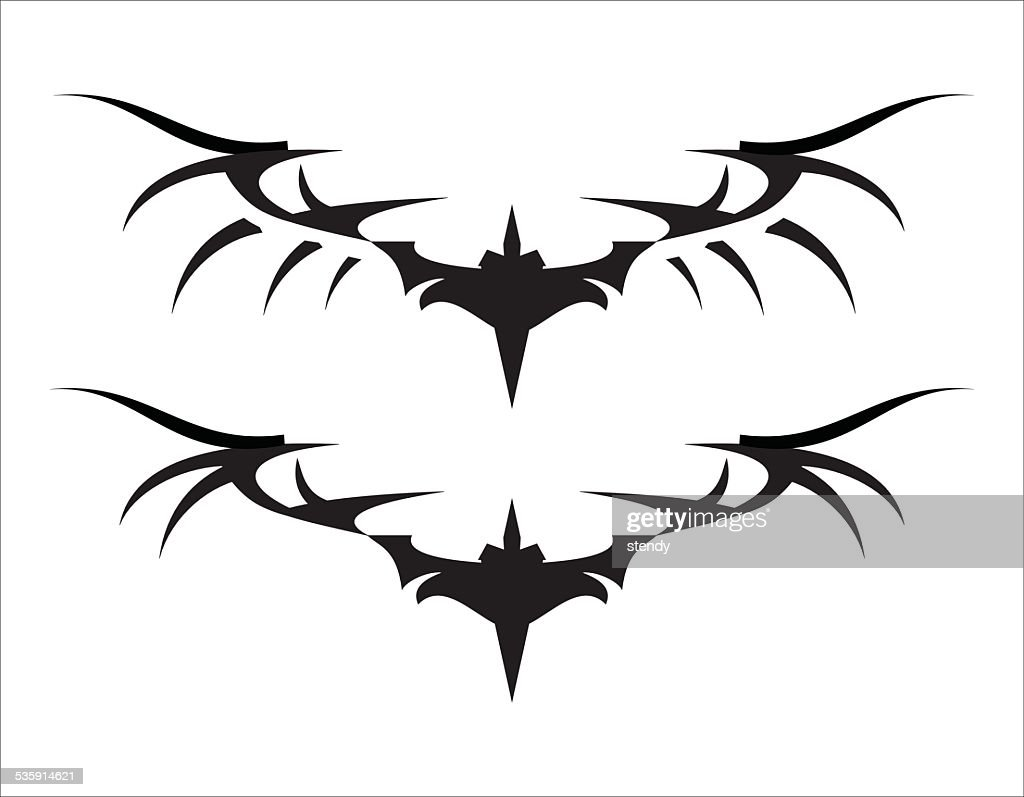Stylized Black Wings II : Vector Art