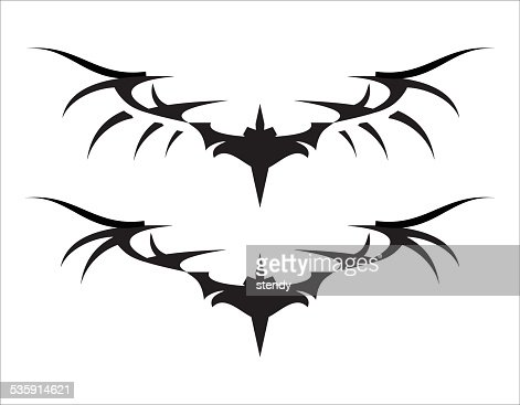 Stylized Black Wings II : Vector Art