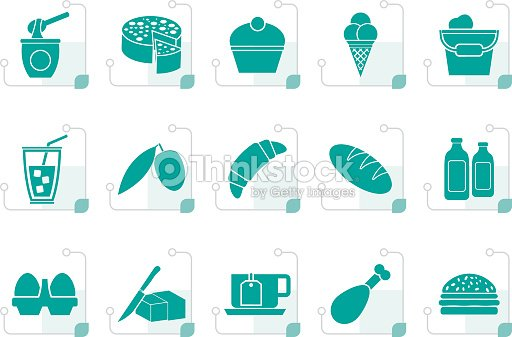 Stylized Dairy Products - Food and Drink icons