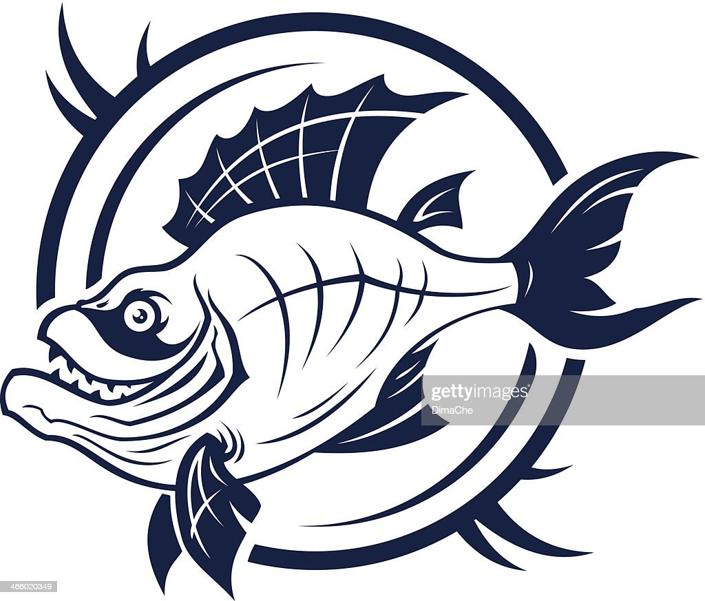 Stylized Fish Sign Vector Art Getty Images