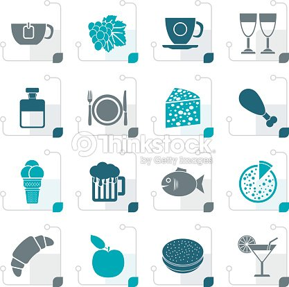 Stylized Food, Drink and beverage icons