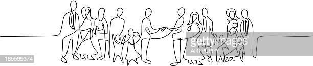 Stilisierte Linie von Familientreffen