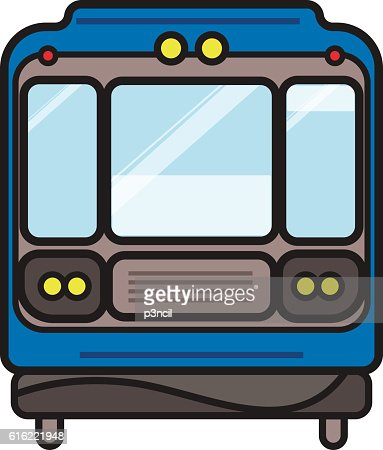 Subway train : Vector Art