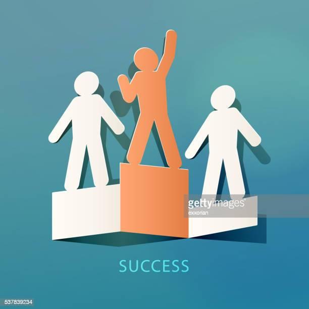 Erfolg Konzept-Papier-Schnitt