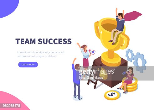 success : stock vector