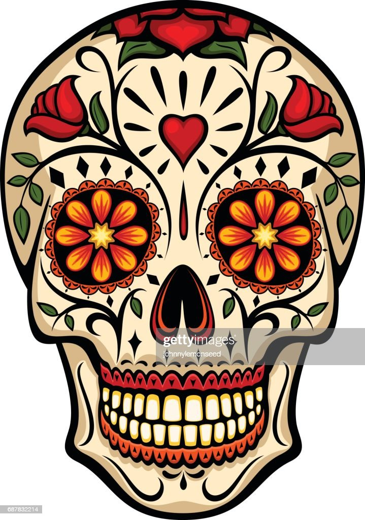 sugar skull vector art thinkstock rh thinkstockphotos com sugar skull vector art free sugar skull vector art