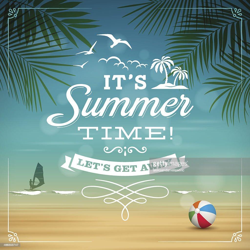 Summer Background : Vector Art