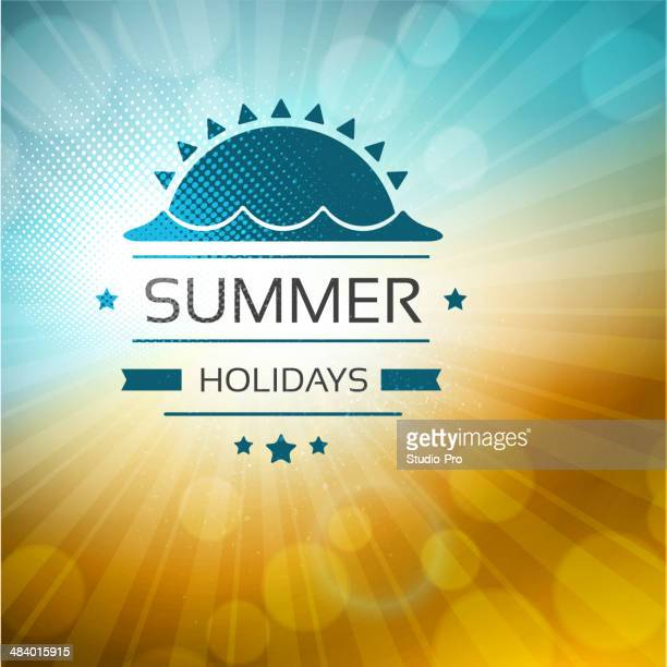 Summer background with label