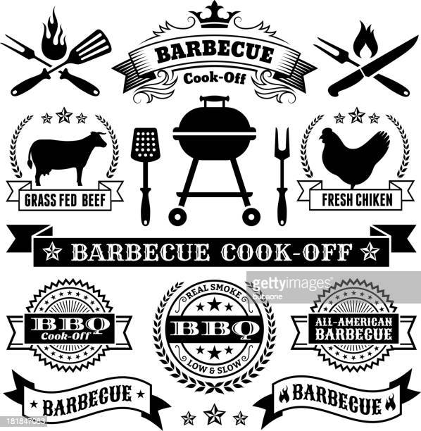 Summer Barbecue royalty free vector icon set