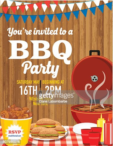 Summer Bbq Party Invitation Template Vector Art | Getty Images