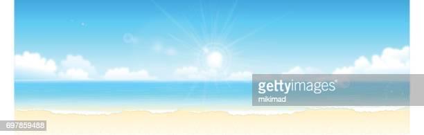 Fond d'été à la plage