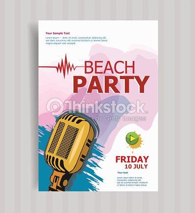 Sommer Strand Party Flyer Vorlage Vektorgrafik | Thinkstock