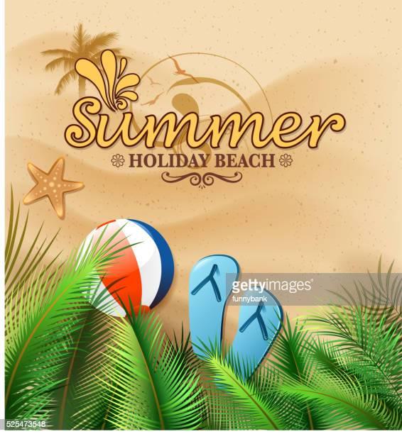 Sommer Strand Zeichen