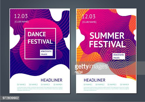 Summer festival abstract poster. : stock vector