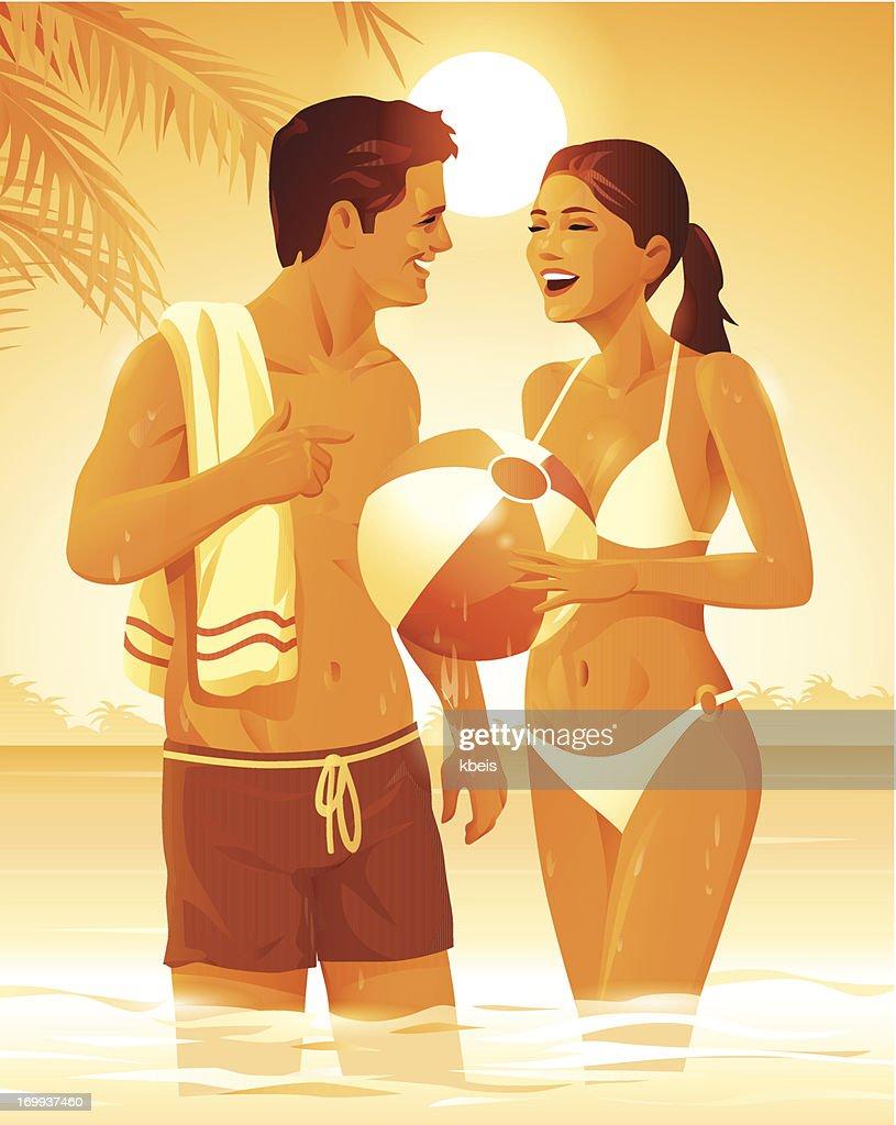 Summer Flirt : Vector Art
