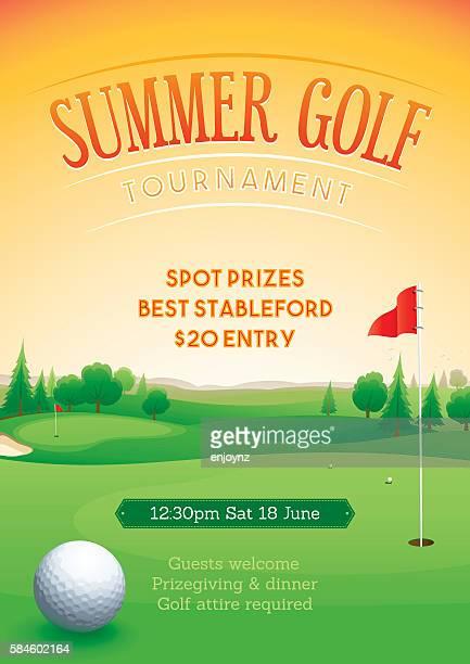 Summer golf tournament poster