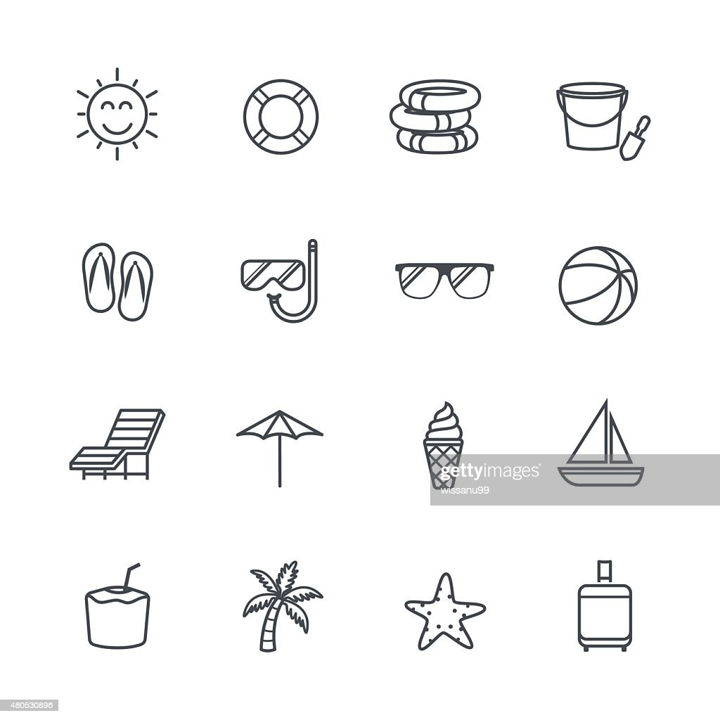 Summer Icons : Vektorgrafik