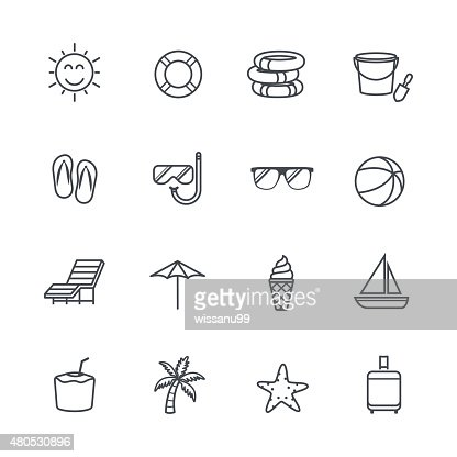 Summer Icons : Vector Art