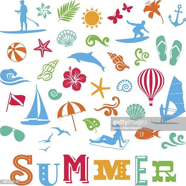 Icônes d'été