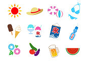 Summer in Japan_icon set