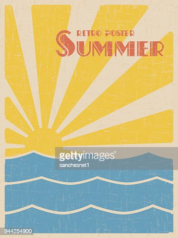 Summer retpo poster : Vector Art