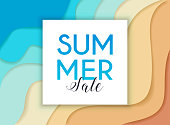 Summer Sale Banner. Poster, Flyer.  Abstract topography concept design on a background. Vector illustration.