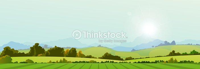 Summer Season Country Banner : stock vector