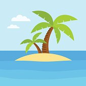 Summer time design. Vacation icon and beach concept. Vector illustration