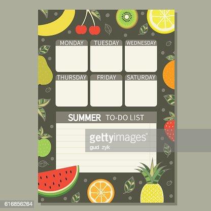 Summer to do list. : Vector Art