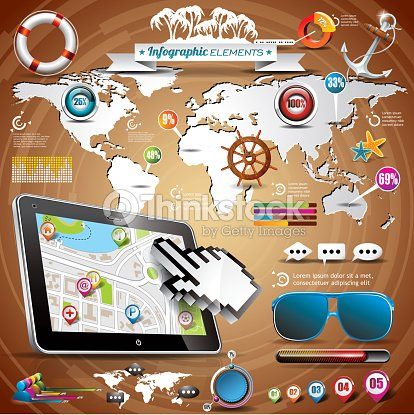 Summer travel infographic set with world map and vacation elements summer travel infographic set with world map and vacation elements vector art gumiabroncs Gallery