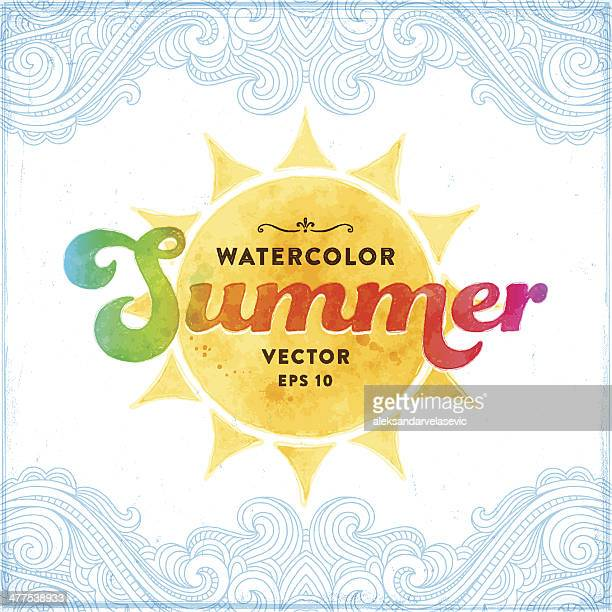 Summer Watercolor Sign