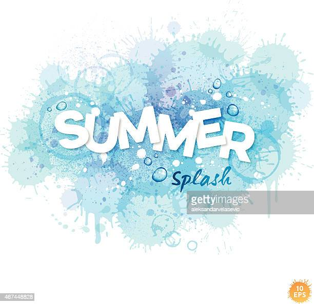Summer Watercolor Splash Background