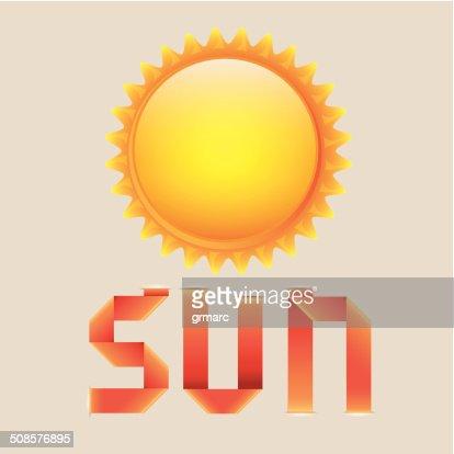 sun and riboon : Vektorgrafik