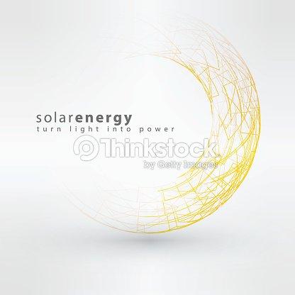 Sun Icon Made From Power Symbols Solar Energy Logo Design Vector Art