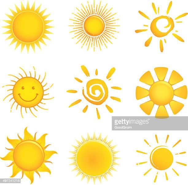 Ensemble d'icônes soleil