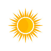 Sun icon vector isolated on white background for your web and mobile app design, Sun logo concept