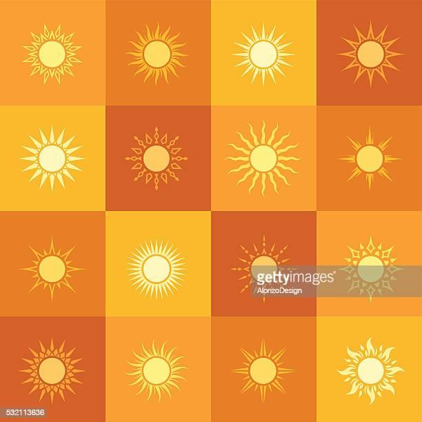 Icônes de soleil motif