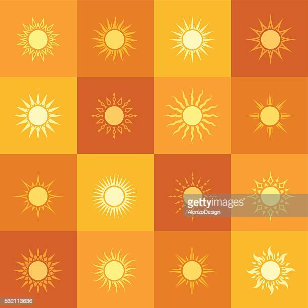Sun Icons Pattern
