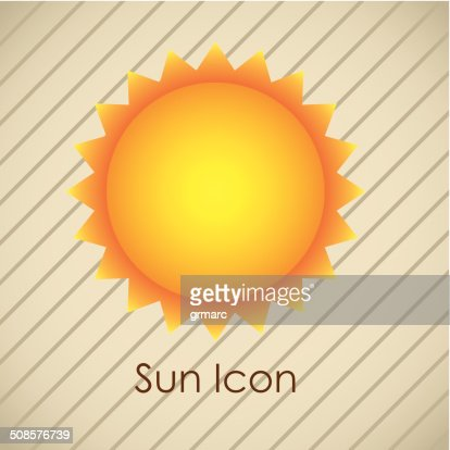 太陽のアイコン : ベクトルアート