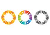sun, logo, solar energy symbol, set nature light sunrise template icon design vector