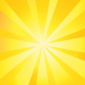 Sun rays wallpaper. Sun Exploding poster, Sunlight Fire - Natural Phenomenon background, Sunrise banner, Sunburst template, Sunbeam shapes pattern, Yellow Lens Flare, Vector illustration