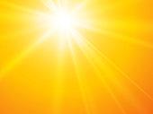modern style sun rays yellow vector backgroun
