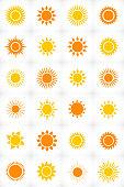 Sun set icon in vector format
