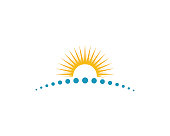 Sun Vector illustration Icon Logo Template design