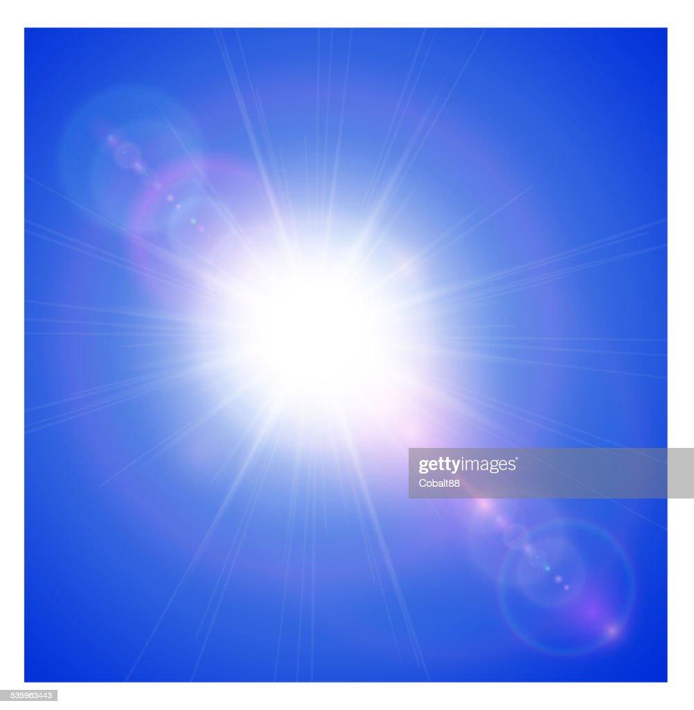 Sun with lens flare : Vector Art