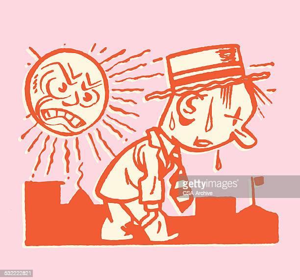 Sun Working Hard to Make Hot Man Sweat
