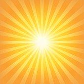 Sunburst background full of orange and yellow colors.EPS-10