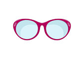 Sunglasses in flat style.  Accessories for hipsters fashion optical spectacles eyesight view. vector illustration