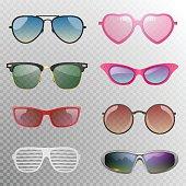 Sunglasses set in vector