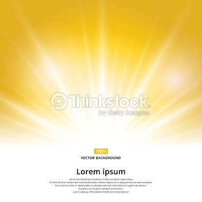 sunlight effect sparkle on yellow background with copy space. Abstract vector : stock vector